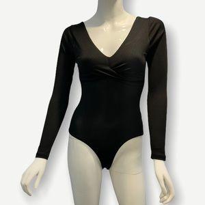 Naf Naf Women's Long Sleeve Bodysuit